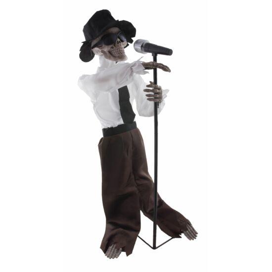 Halloween 94 cm-es éneklő-világító-mozgó csontváz