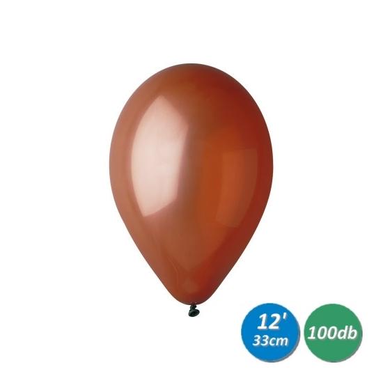 33 cm-es barna gumi léggömb 100 db/cs.