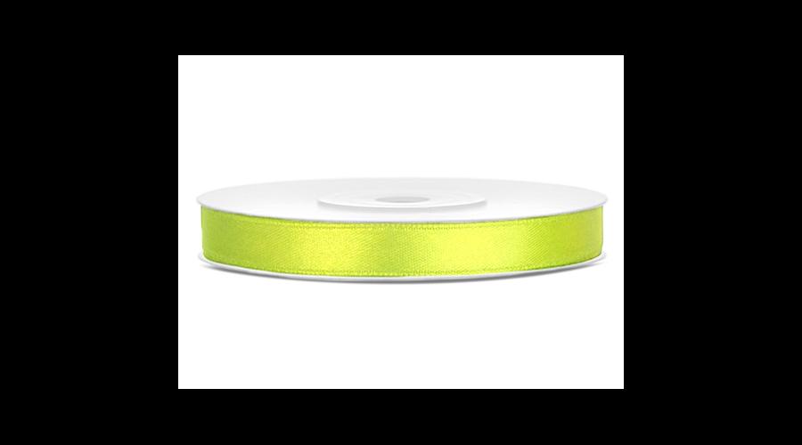 Neon zöld szatén szalag 6 mm x 25 m - Egyszínű - Funny Box Webáruház ff0a11f122