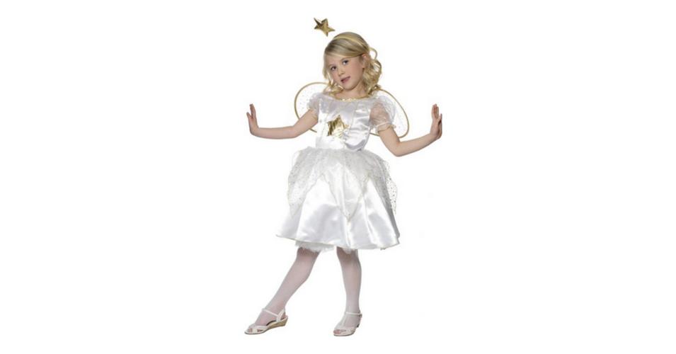 Tündér jelmez gyerekeknek fehér színű M es JELMEZEK